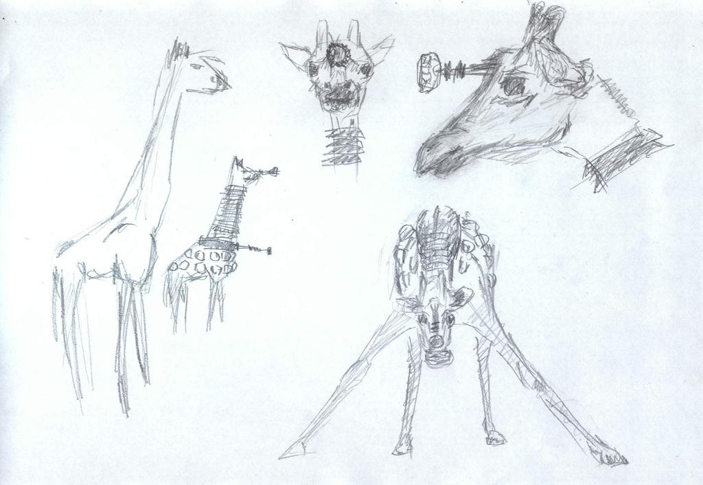 giraffe dalek concept by sfxdx