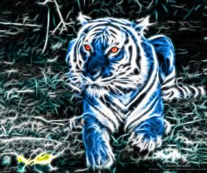 Fractalius blue tiger