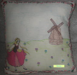 Elionwy Spring Christmas Pillow by Smilelil1