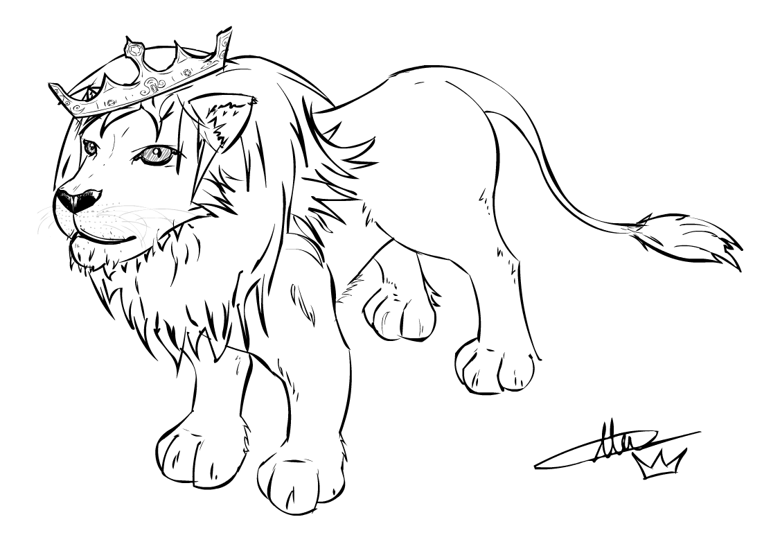 Flash sketch aslan by the unstoppable on deviantart for Flash da colorare
