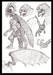 Sketch Birdman by GregHarris