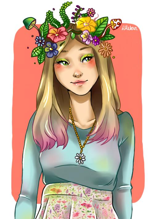 Spring Seasonal Drawing by LilyPad2307