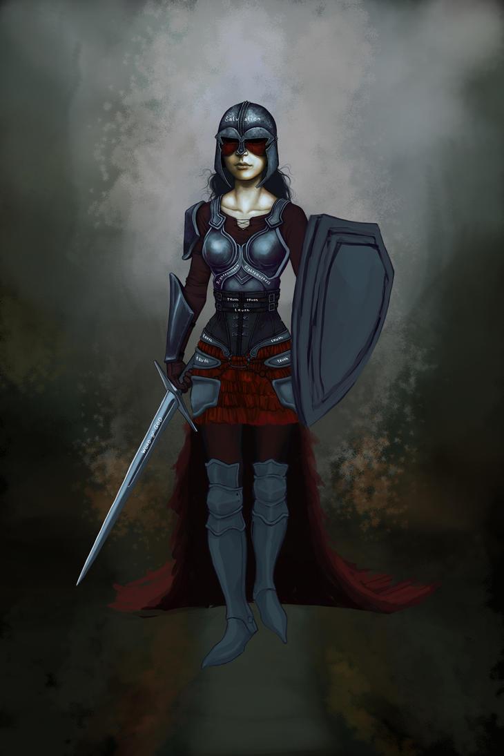 armor of god wip by blackbirdink on deviantart