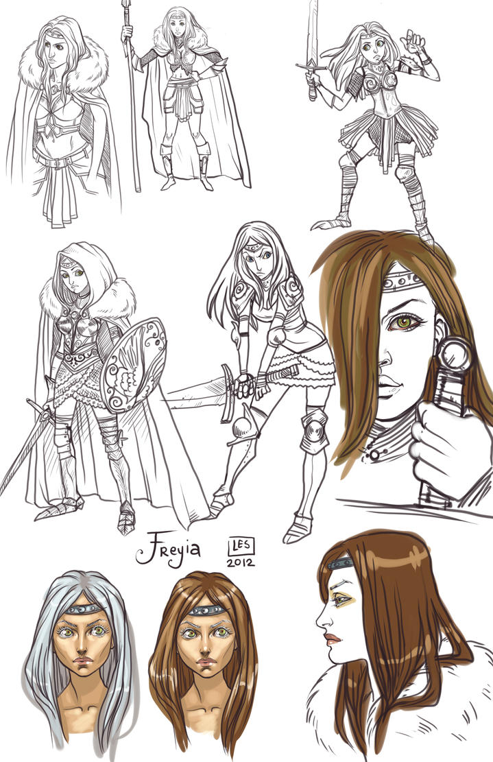 SketchPage_Freyia by BlackBirdInk