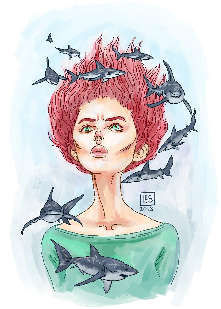 Portrait Sketch _Masha by BlackBirdInk