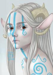 Portrait Sketch_ Royalty by BlackBirdInk