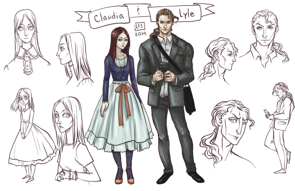 Sketch Page Claudia and Lyle by BlackBirdInk