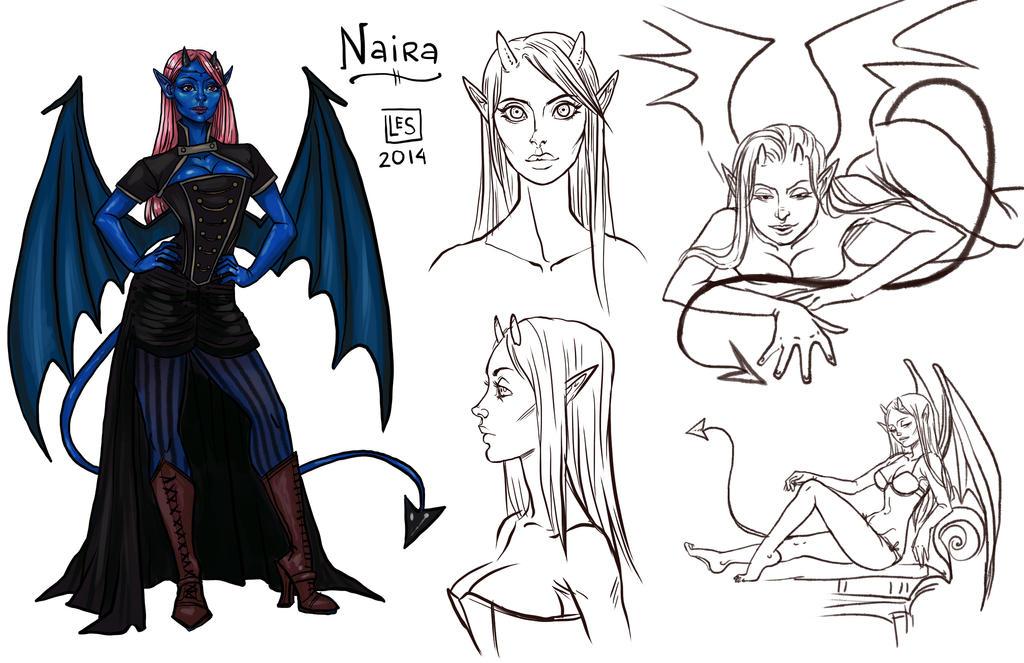 Sketch Page_Naira by BlackBirdInk