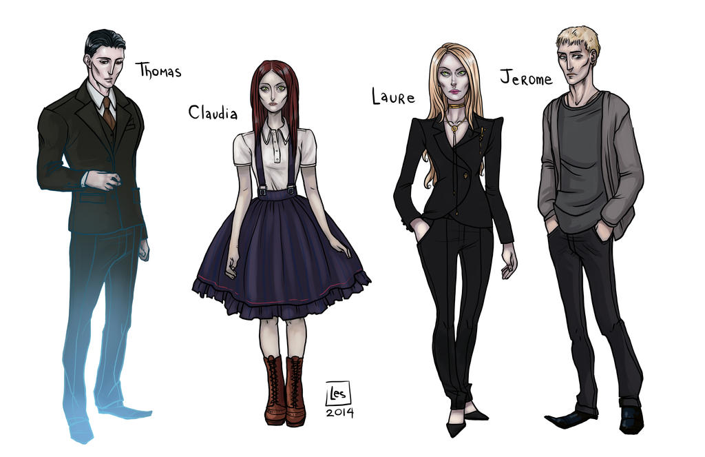 Sketch Page_Claudia Laure Jerome and Thomas by BlackBirdInk