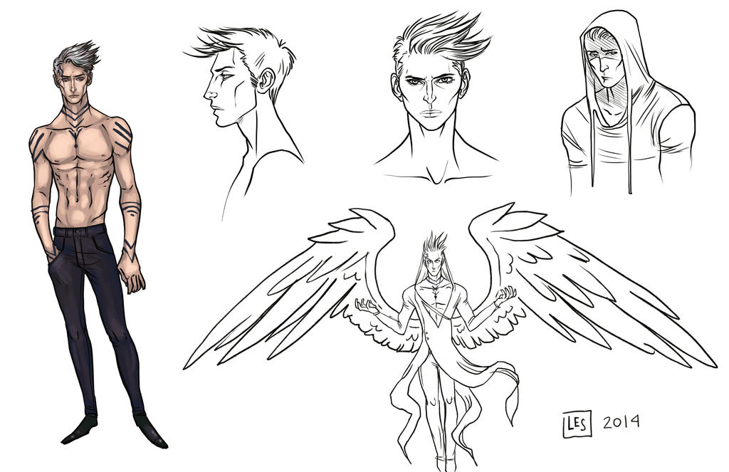 Sketch Page _The Unnamed by BlackBirdInk