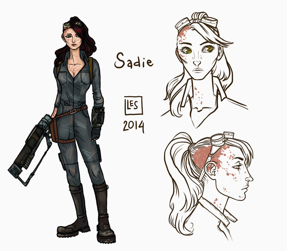 Small Reff-sheet_Sadie by BlackBirdInk