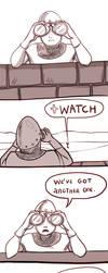 How I greet the watchers by BlackBirdInk
