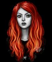 Mini Portrait__Lillian by BlackBirdInk