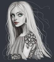Mini Portrait__Eloise by BlackBirdInk