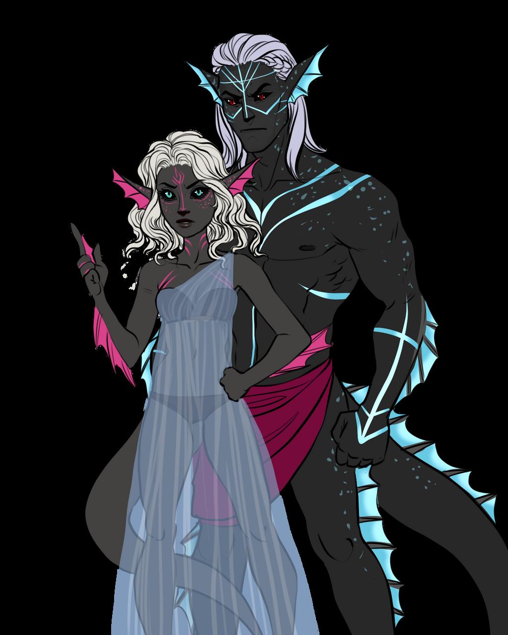 Couples Sketch Color Davina And Orbis By Blackbirdink On Deviantart