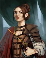 Portrait_Ava wip 4 by BlackBirdInk