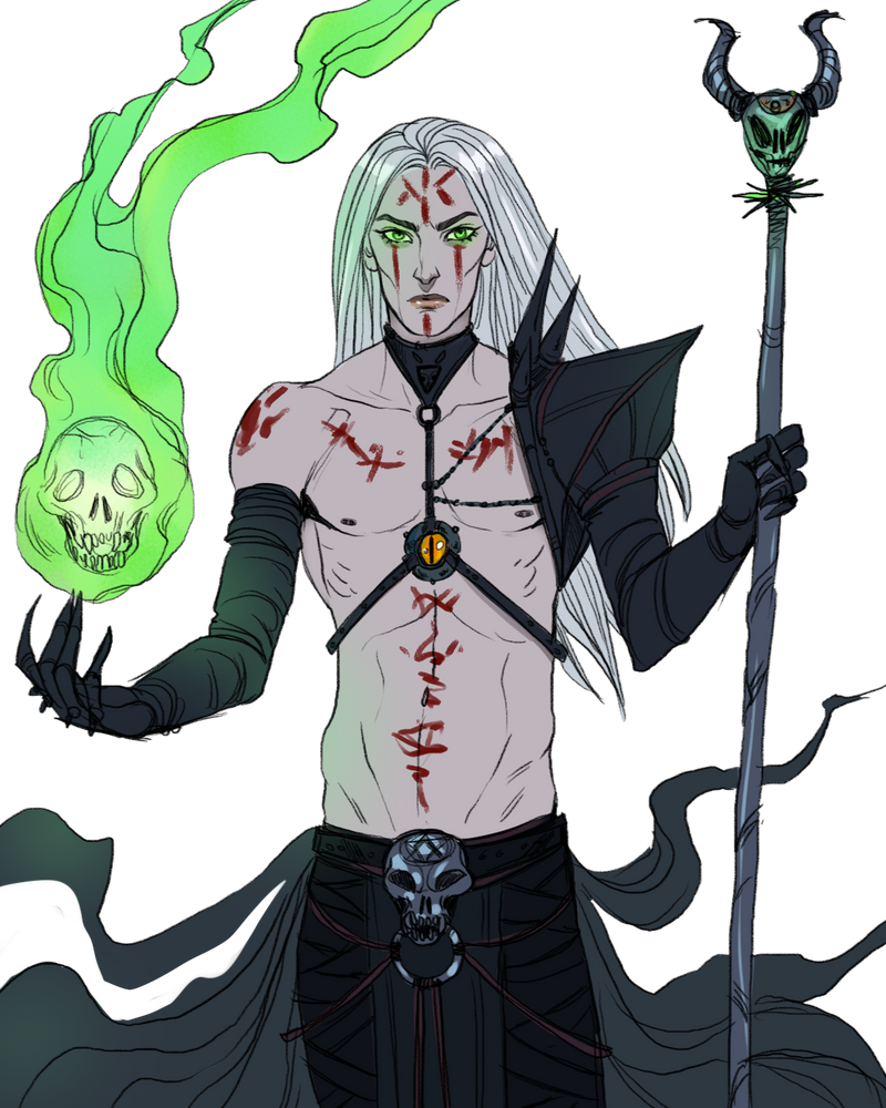 Sketch__the Necromancer by BlackBirdInk
