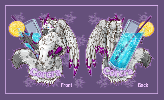 Corcra double sided drink badge by Paws4Hire