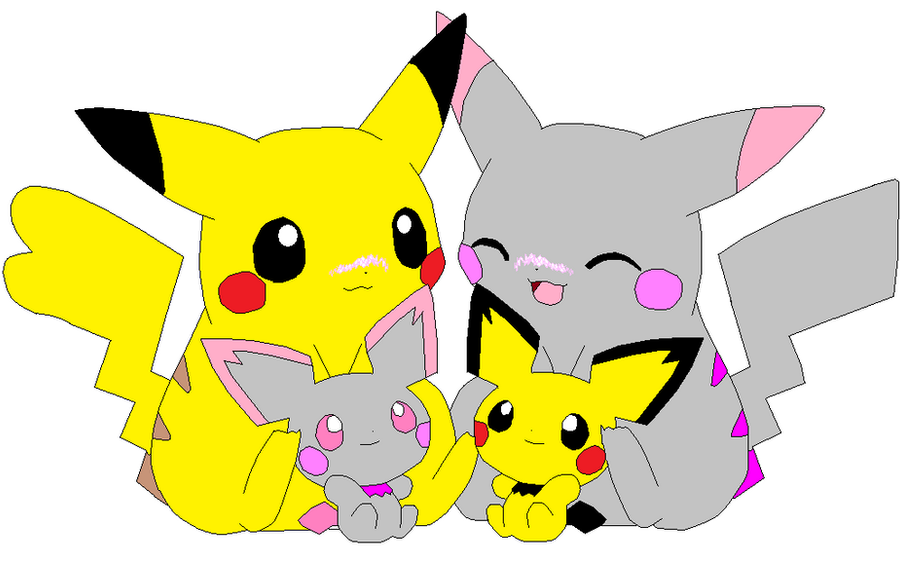 The Pikachu Family by SandyEatzYouz on DeviantArt