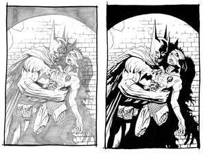 Zombie Batman and Robin