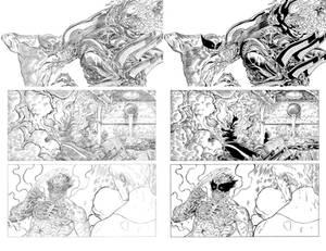 Wolverine VS aliens page 8
