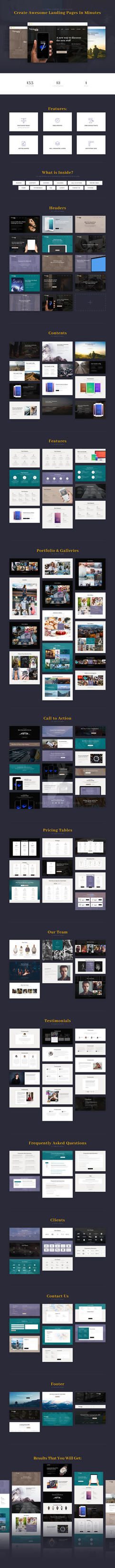 Victoria Landing Page UI KIT by CreatePX