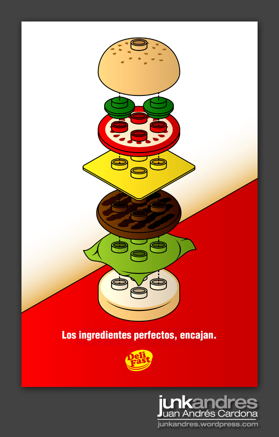 Poster Lego Burger by Junkandres on DeviantArt