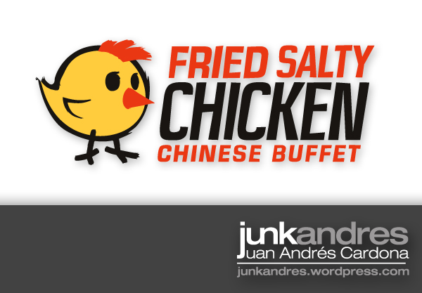 fried salty chicken logo by junkandres on deviantart