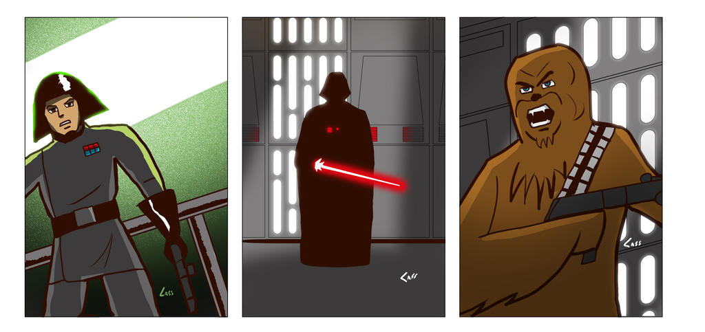 Star Wars cards 2 by cassmeister
