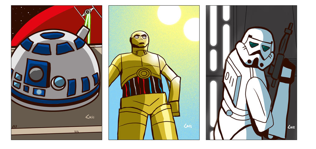 Star Wars cards 3 by cassmeister