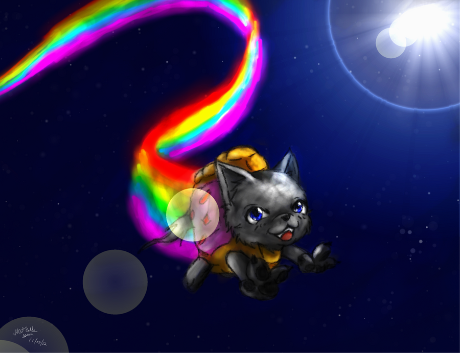 nyan cat by nataliearrow