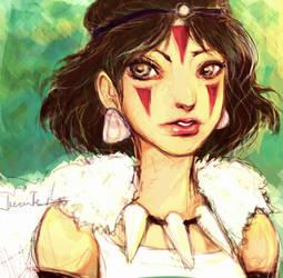 Princess Mononoke by aegia