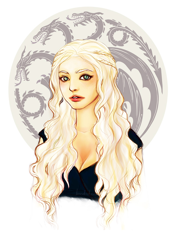 Portrait of a Khaleesi by aegia