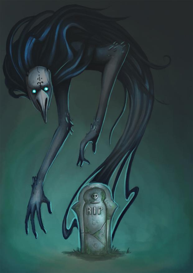 Drawlloween 1 Ghost by BlackAriock