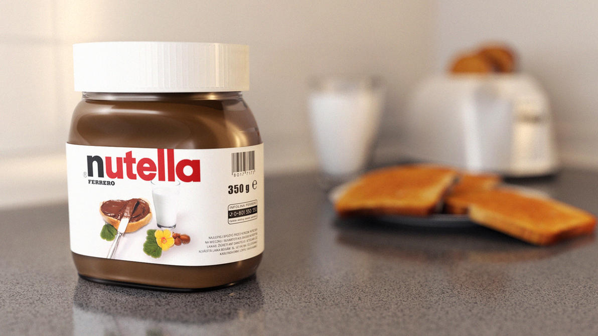 nutella by keyan3d