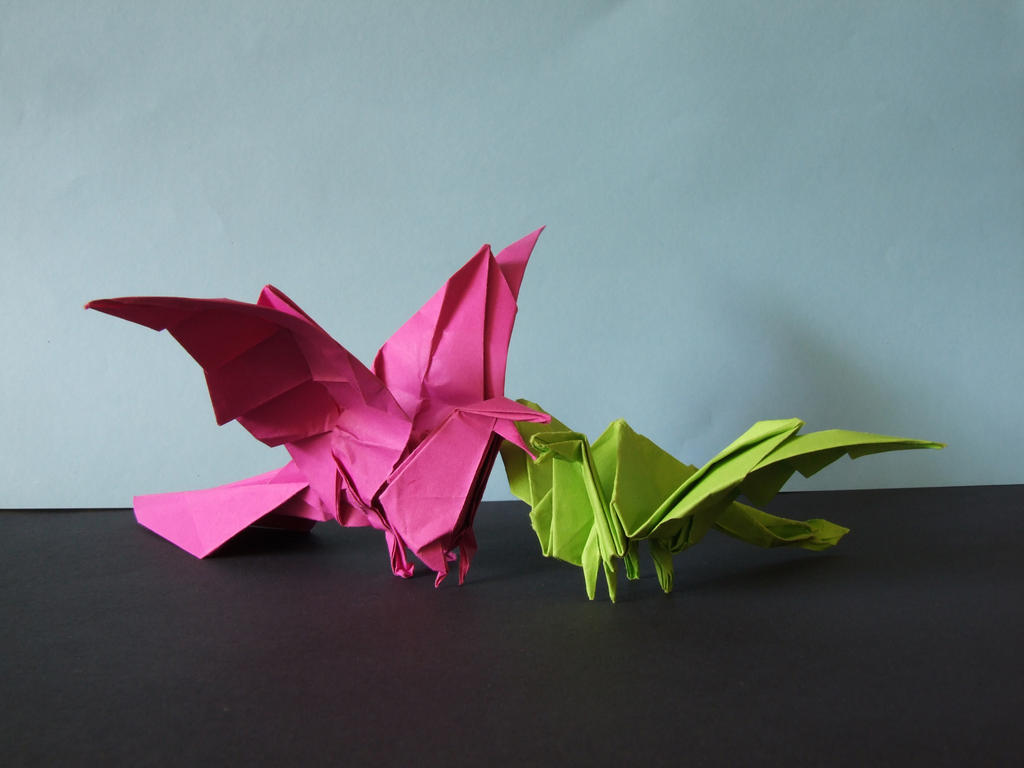 Origami dragons by Anna115