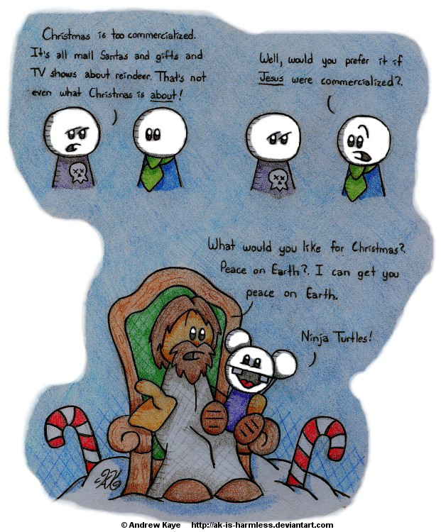 Christmas Cynicism by AK-Is-Harmless