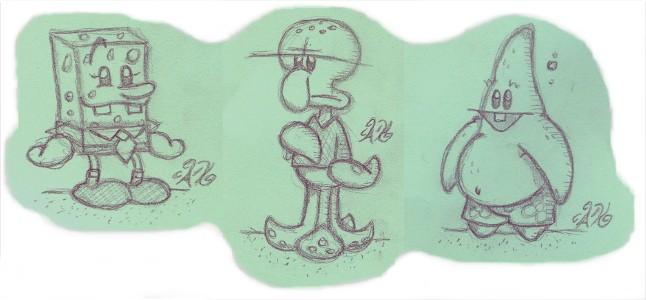 SpongeBob Cast by AK-Is-Harmless
