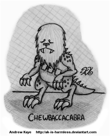 Chewbaccacabra by AK-Is-Harmless