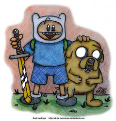 Adventure Time - Finn and Jake by AK-Is-Harmless
