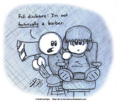 Sketch - Barber Chop by AK-Is-Harmless