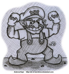 Sketch - Wario by AK-Is-Harmless