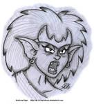 Sketch - Demona by AK-Is-Harmless