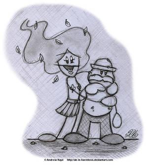 Sketch - Dorothy and Balboa