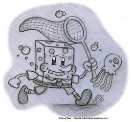 Sketch - SpongeBob SquarePants by AK-Is-Harmless