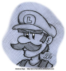 Sketch - Luigi by AK-Is-Harmless