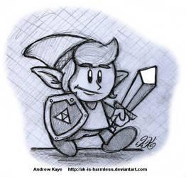 Sketch - Link (Link's Awakening) by AK-Is-Harmless