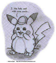 Sketch - Detective Pikachu by AK-Is-Harmless