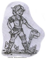 Sketch - Fortuna (Full Body) by AK-Is-Harmless
