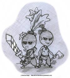 Sketch - Neep Warriors by AK-Is-Harmless